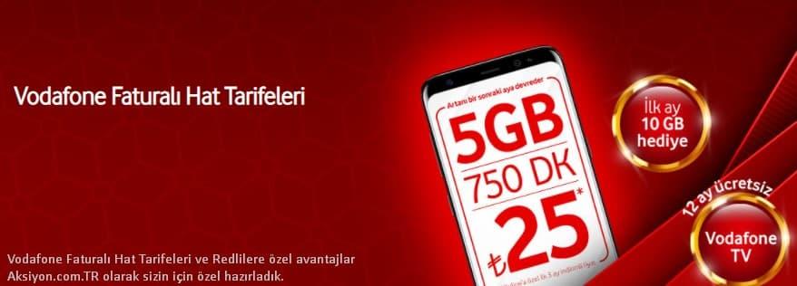 Vodafone Faturalı Tarifeler