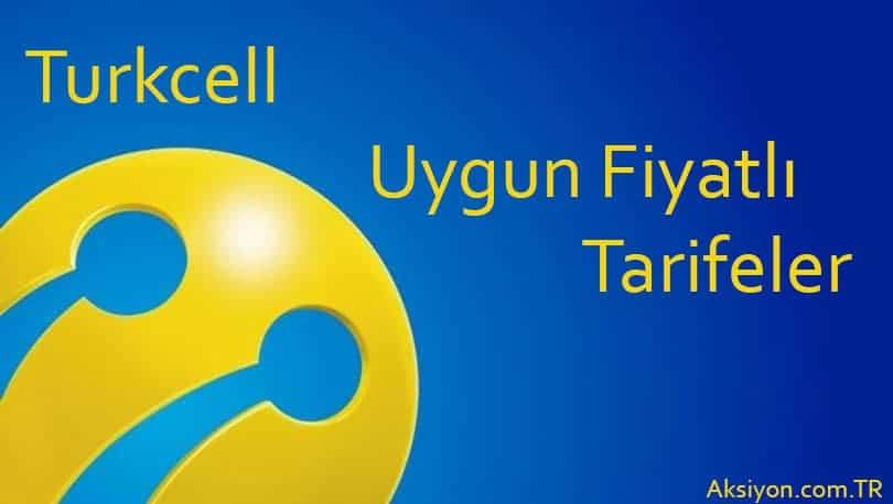Turkcell Uygun Fiyatlı Faturalı Paketler