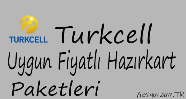 Turkcell Uygun Fiyatlı Hazır kart Paketleri